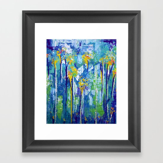 Tall Pollen Framed Art Print
