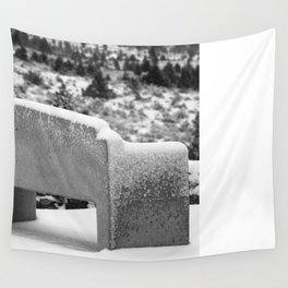 Snowy Bench Wall Tapestry