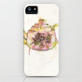 Watercolour Vintage Teapot iPhone Case