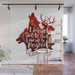 I solemnly swear - white Wall Mural