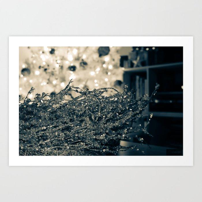 Silver Wreath  Art Print