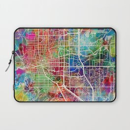 Boulder Colorado City Map Laptop Sleeve