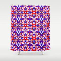 Red, White and Blue Crosses 243 Shower Curtain