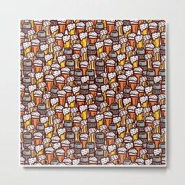 Beer Pattern | Oktoberfest Hops Malt Brewery Metal Print