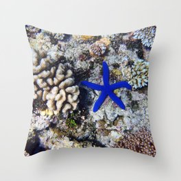 Starfish on the Reef Throw Pillow