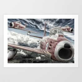 ASCUA aerobatic team Art Print