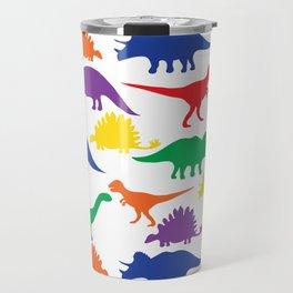 Dinosaurs - White Travel Mug
