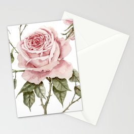 Pink Roses – Original Watercolor Stationery Cards