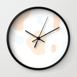 Moo patches - Chinese crabapple orange colour series  Wall Clock
