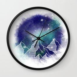 Mountain Skyline Wall Clock