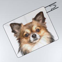 Chihuahua Portrait Picnic Blanket