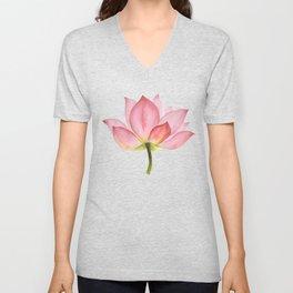 Pink lotus #2 Unisex V-Neck