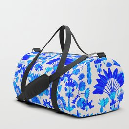 Exotic Garden Blue Duffle Bag