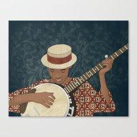 banjo Canvas Prints featuring Banjo by Aquamarine Studio