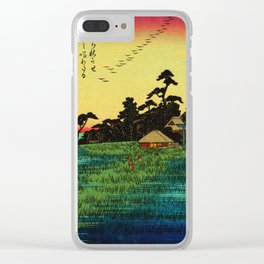 Descending Geese at Haneda Japan Clear iPhone Case