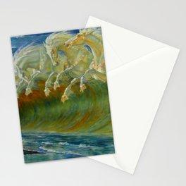"Walter Crane ""Neptune's Horses, 1893"" Stationery Cards"