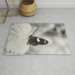 Butterfly on a Leaf Rug