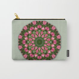 Floral mandala-style, Rose Carry-All Pouch