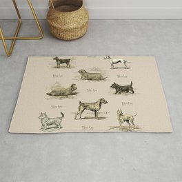 TERRIERS Dog pattern Rug