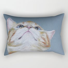 Juno. The Bird Catcher. Pastel Kitten Rectangular Pillow