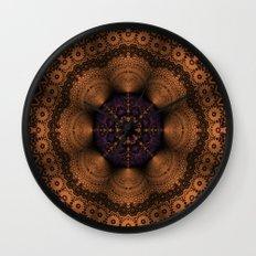 Copper Fantasia Wall Clock