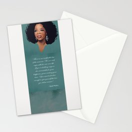 Oprah Winfrey Quote Stationery Cards