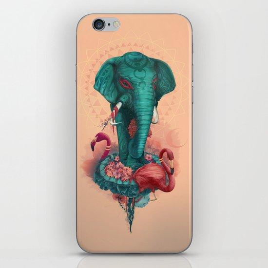 Elephant on the mat iPhone & iPod Skin
