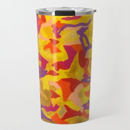 Crescent moon and birds Travel Mug