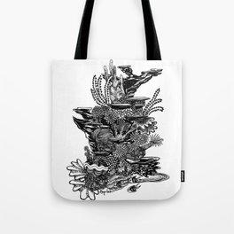 Coral Tower Tote Bag