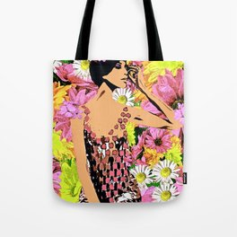 LUNA SPRING TIME BEAUTY WOMAN FLOWER CHILD Tote Bag