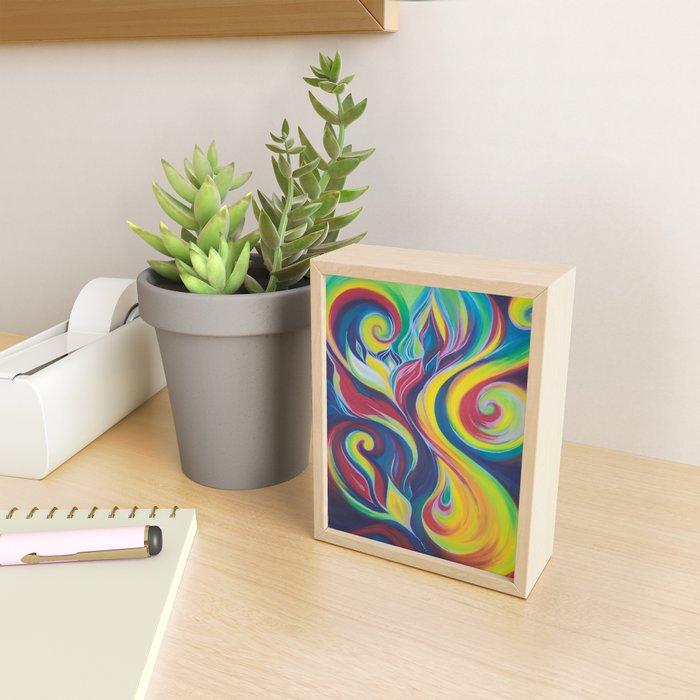 Elemental Burst Framed Mini Art Print