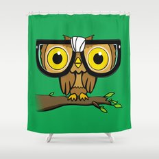 The Little Wise One Shower Curtain