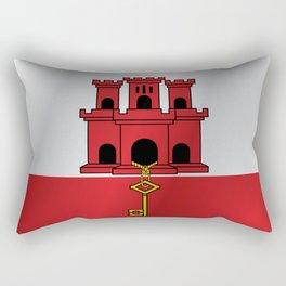 Flag of Gibraltar Rectangular Pillow