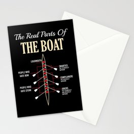 The Real Parts Of The Boat - Funny Boating Gifts Stationery Cards