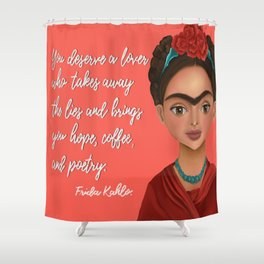 Frida Quote Shower Curtain