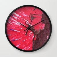 pain Wall Clocks featuring Pain by C-ARTon