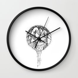 Mountain Stipplescape Wall Clock