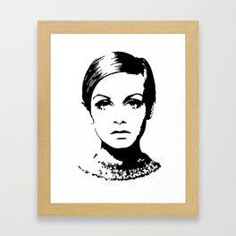Twiggy Style Modern At Framed Art Print