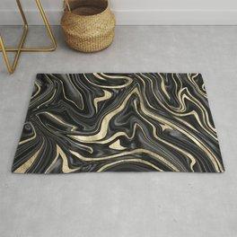 Black Gray White Gold Marble #1 #decor #art #society6 Rug