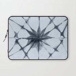 Shibori Starburst Indigo Blue on Sky Blue Laptop Sleeve