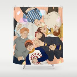 BTS - group Shower Curtain