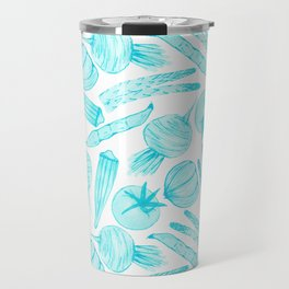 Blue Vegetables Travel Mug