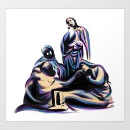Crucifix Scene Art Print