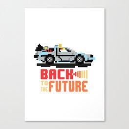 Back to the future: Delorean Canvas Print
