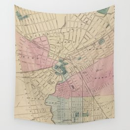 Vintage Map of Elizabeth New Jersey (1872) Wall Tapestry