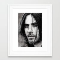 jared leto Framed Art Prints featuring Jared Leto by Luna Perri