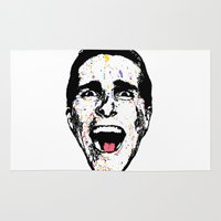 american psycho Area & Throw Rugs featuring American Psycho by CultureCloth