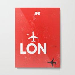 LON JFK Metal Print