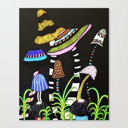 Majestic Mushrooms Canvas Print