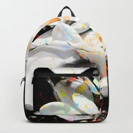 Orchids Paint Spash Backpack